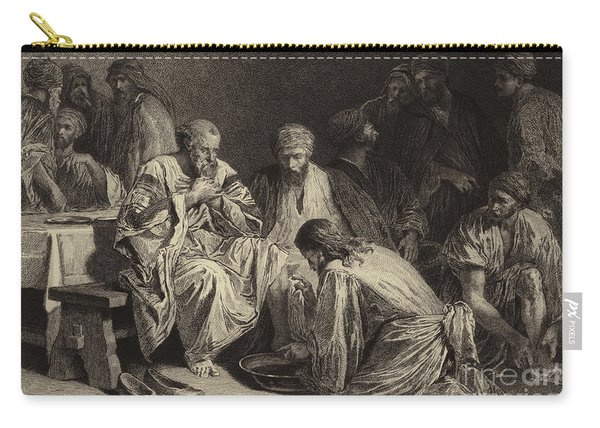 Jesus Washing The Disciples' Feet Carry-all Pouch