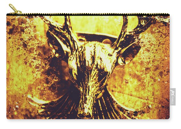 Jewel Deer Head Art Carry-all Pouch