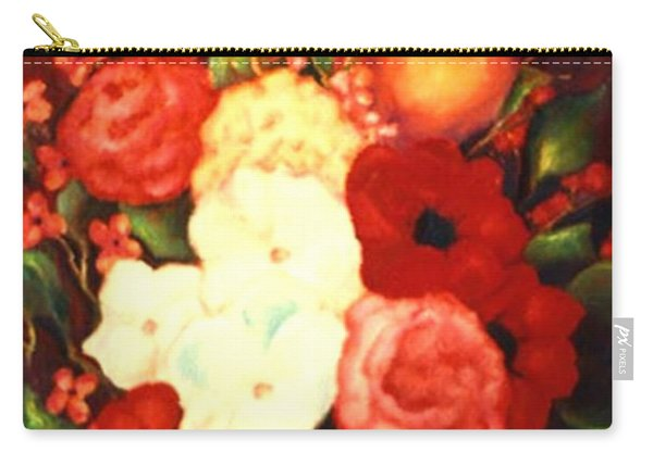 Jewel Flowers Carry-all Pouch