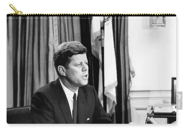 Jfk Addresses The Nation Painting Carry-all Pouch