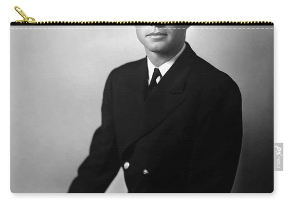 Jfk Wearing His Navy Uniform Painting Carry-all Pouch