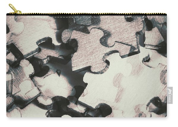 Jigsaws Of Double Exposure Carry-all Pouch