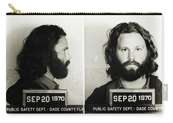 Jim Morrison Mugshot Carry-all Pouch
