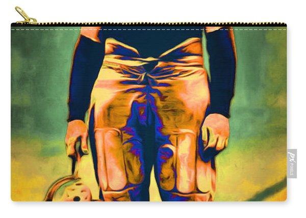 Jim Thorpe Vintage Football 20151220long Carry-all Pouch