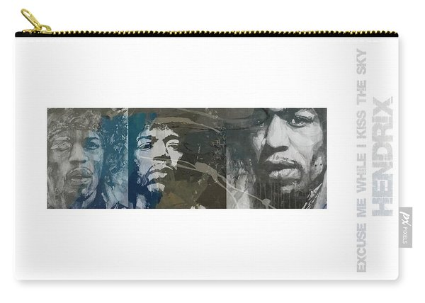 Jimi Hendrix Triptych Carry-all Pouch