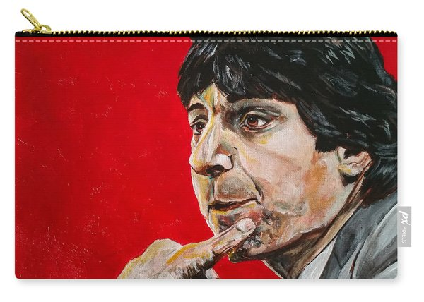 Carry-all Pouch featuring the painting Jimmy V by Joel Tesch
