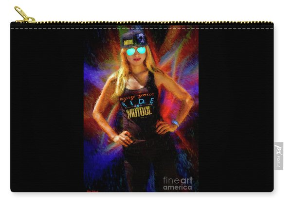 Joan Pulido The Motool Girl Carry-all Pouch
