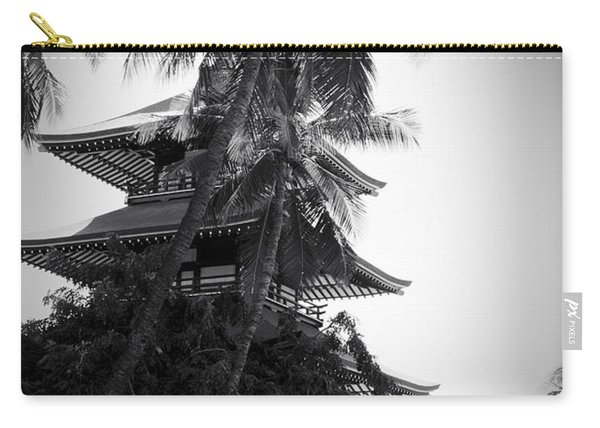 Jodo Shu  Beautiful Palms At Chion-in Japanese-style Temple  Lahaina Maui Hawaii  Carry-all Pouch