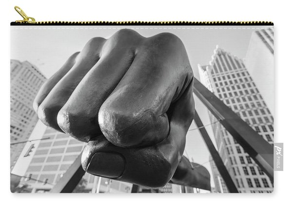 Joe Louis Fist Black And White Detroit  Carry-all Pouch