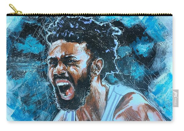 Carry-all Pouch featuring the painting Joel Berry II by Joel Tesch