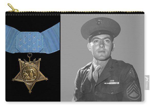 John Basilone And The Medal Of Honor Carry-all Pouch