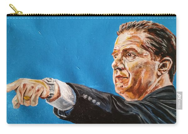 Carry-all Pouch featuring the painting John Calipari by Joel Tesch