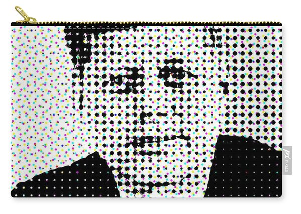 John F Kennedy In Dots Carry-all Pouch