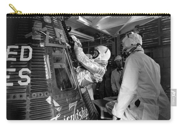 John Glenn Entering Friendship 7 Spacecraft Carry-all Pouch