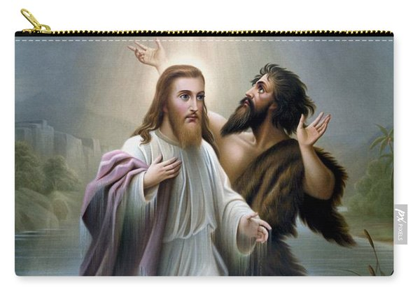 John The Baptist Baptizes Jesus Christ Carry-all Pouch