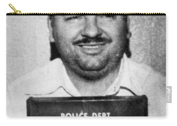 John Wayne Gacy Mug Shot 1980 Black And White Carry-all Pouch