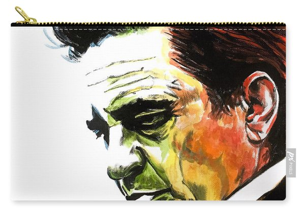 Carry-all Pouch featuring the painting Johnny Cash by Joel Tesch
