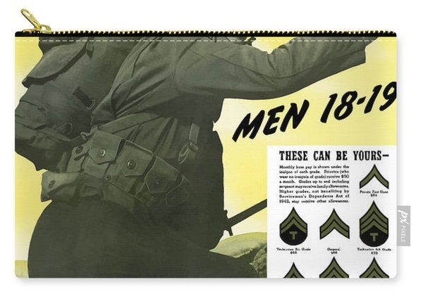 Join The Us Army - Follow Me Carry-all Pouch