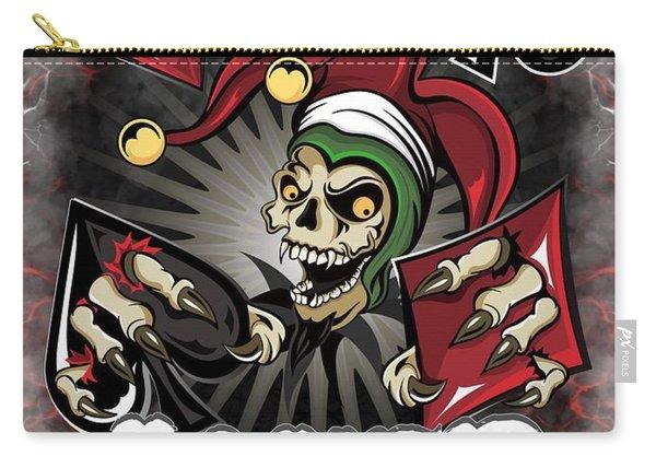 Joker Poker Skull Carry-all Pouch