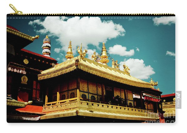 Jokhang Temple Fragment  Lhasa Tibet Artmif.lv Carry-all Pouch