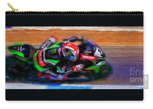 Jonathan Rea On His Way 2016 Kawasaki Carry-all Pouch