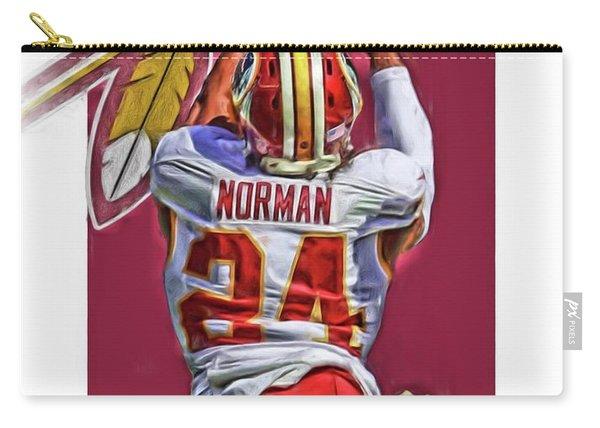 Josh Norman Washington Redskins Oil Art Carry-all Pouch