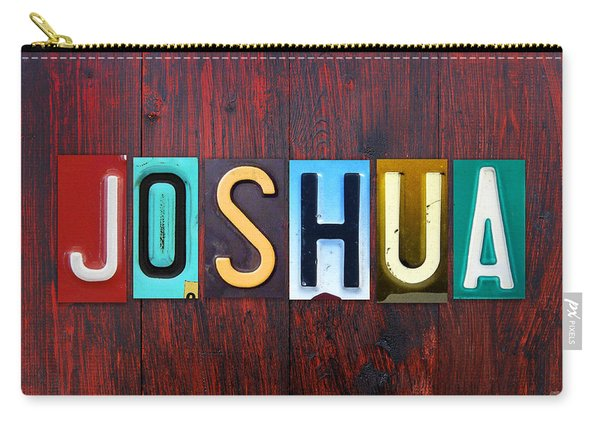 Joshua License Plate Lettering Name Sign Art Carry-all Pouch