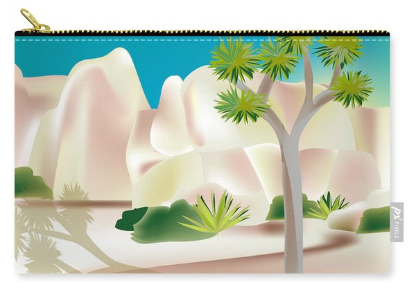 Joshua Tree National Park Vertical Scene Carry-all Pouch