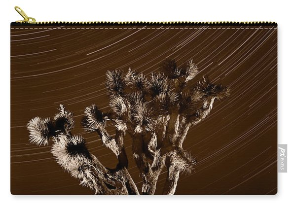 Joshua Tree Night Lights Death Valley Bw Carry-all Pouch