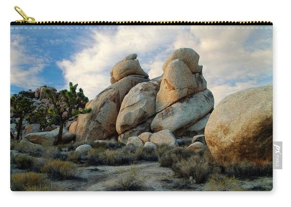 Joshua Tree Rock Formations At Dusk  Carry-all Pouch
