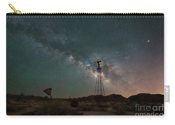 Joshua Tree Windmill Milky Way  Carry-all Pouch