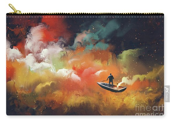 Carry-all Pouch featuring the painting Journey To Outer Space by Tithi Luadthong