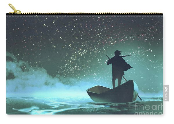 Carry-all Pouch featuring the painting Journey To The New World by Tithi Luadthong