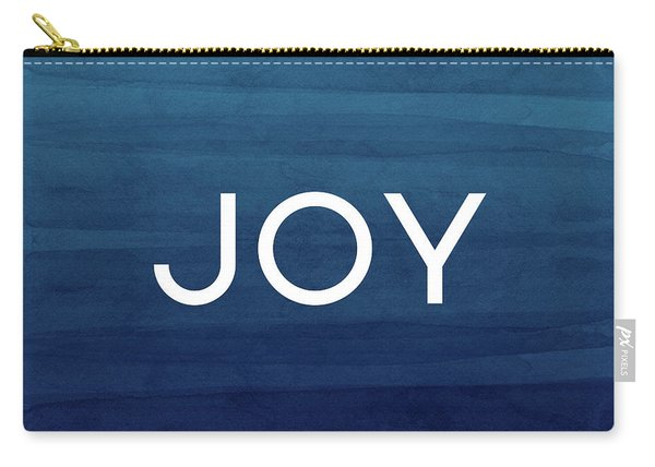 Joy Blue- Art By Linda Woods Carry-all Pouch