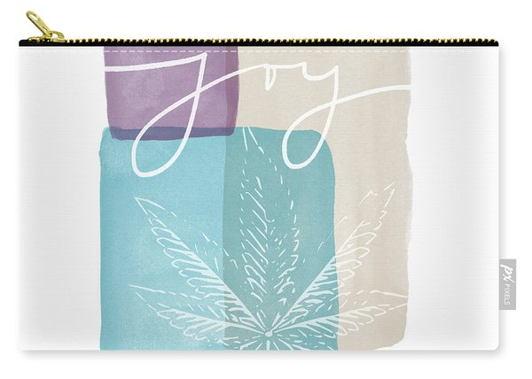 Joy Cannabis Leaf Watercolor- Art By Linda Woods Carry-all Pouch