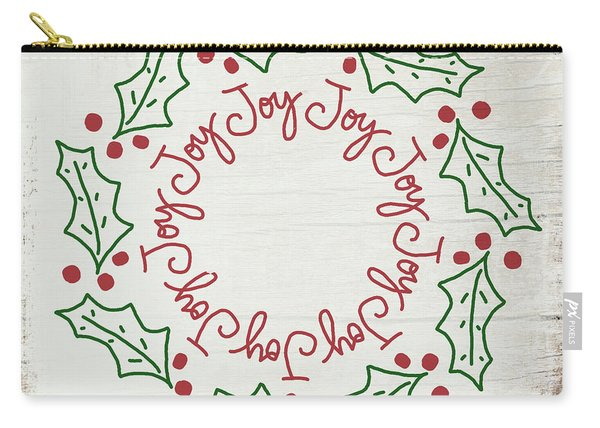 Joy Holly Wreath- Art By Linda Woods Carry-all Pouch