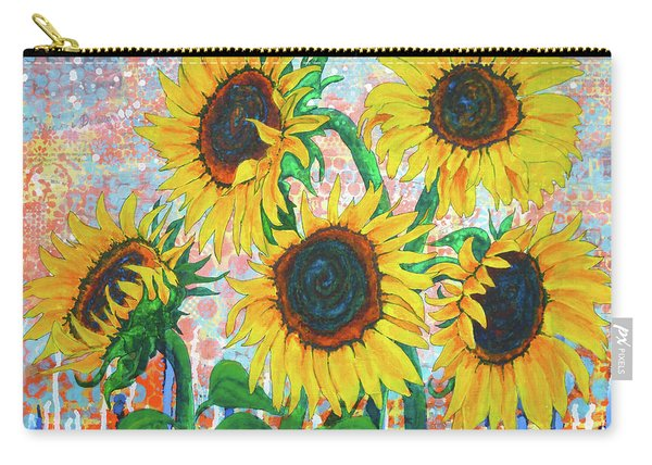 Joy Of Sunflowers Desiring Carry-all Pouch