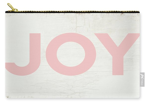 Joy Sign Pink- Art By Linda Woods Carry-all Pouch