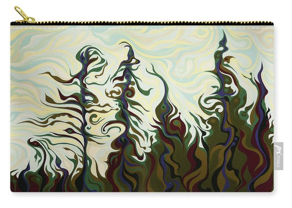 Joyful Pines, Whispering Lines Carry-all Pouch
