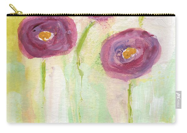 Joyful Poppies- Abstract Floral Art Carry-all Pouch