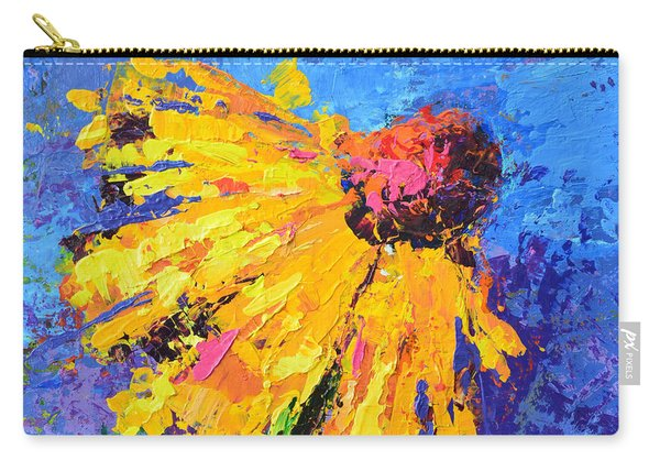 Joyful Reminder Modern Impressionist Floral Still Life Palette Knife Work Carry-all Pouch
