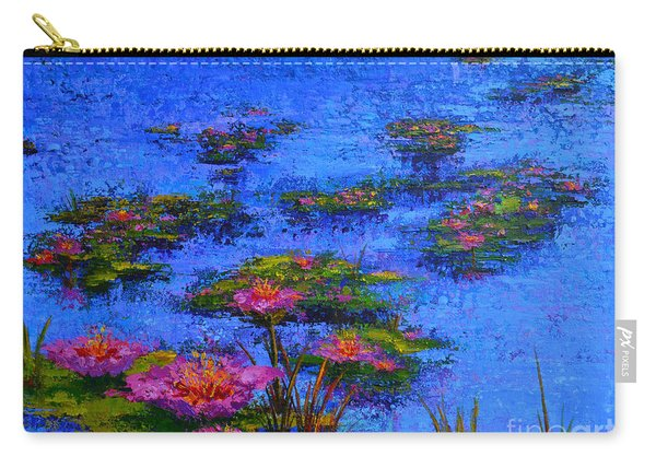 Joyful State - Modern Impressionistic Art - Palette Knife Landscape Painting Carry-all Pouch