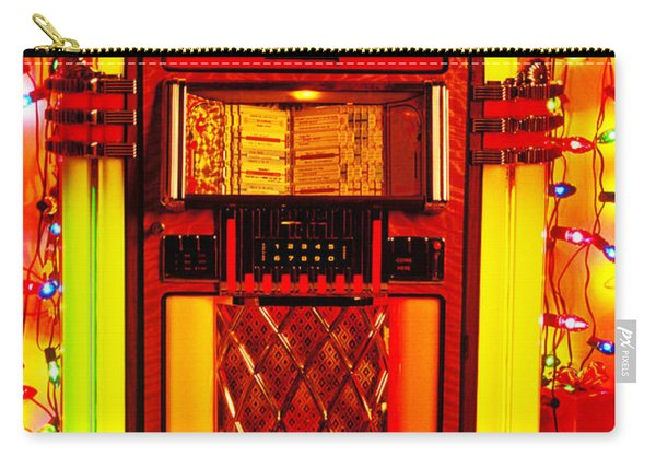 Juke Box With Christmas Lights Carry-all Pouch