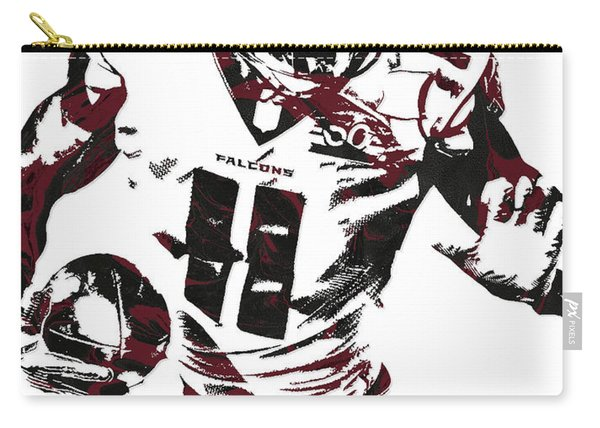 Julio Jones Atlanta Falcons Pixel Art 4 Carry-all Pouch