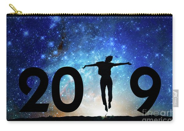 Jump New Year Card Carry-all Pouch