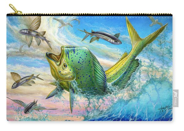 Jumping Mahi Mahi And Flyingfish Carry-all Pouch