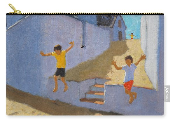 Jumping Off A Wall Carry-all Pouch