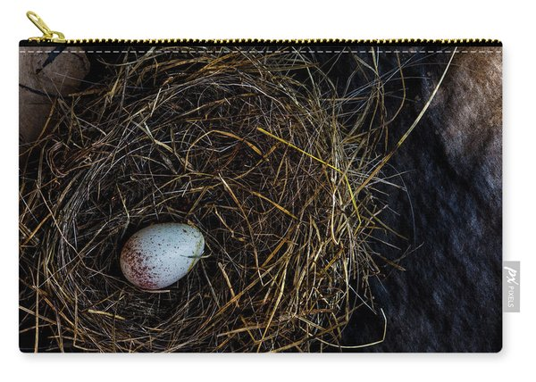 Junco Bird Nest And Egg Carry-all Pouch