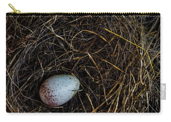 Junco Bird Nest And Egg Square Version Carry-all Pouch