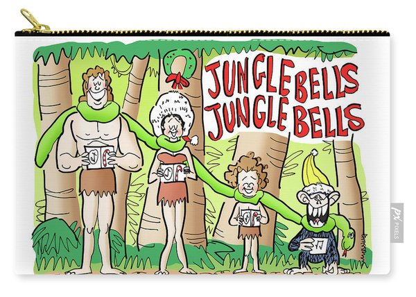 Carry-all Pouch featuring the digital art Jungle Bells by Mark Armstrong